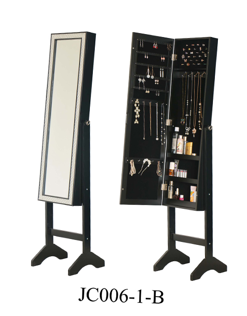 China makeup storage jewellery mirror cabinet  JC006-1-B