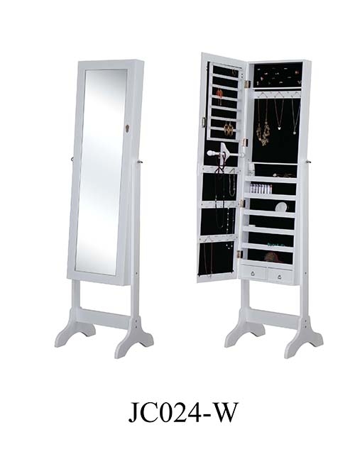 The cheapest price for wooden mirrored jewelry cabinet  JC024-W