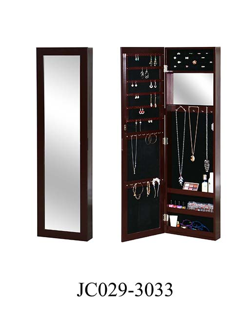 Brown color make up mirror cabinet wood  JC029-3033