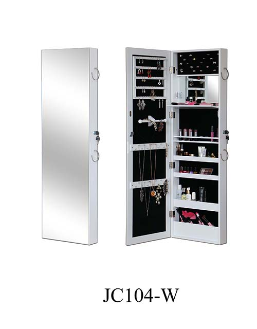 China supplier makeup mirror storage jewelry cabinet  JC104-W
