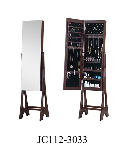 Fashionable custom mirror jewelry cabinet  JC112-3033