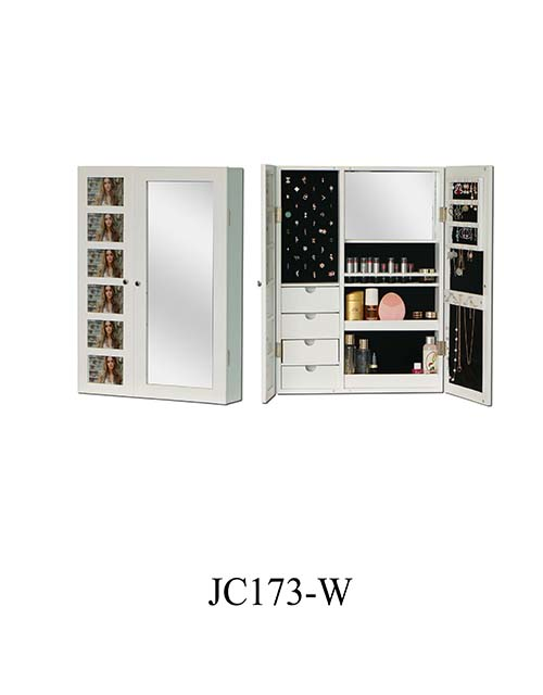 Customized dressing mirror jewelry cabinet  JC173-W